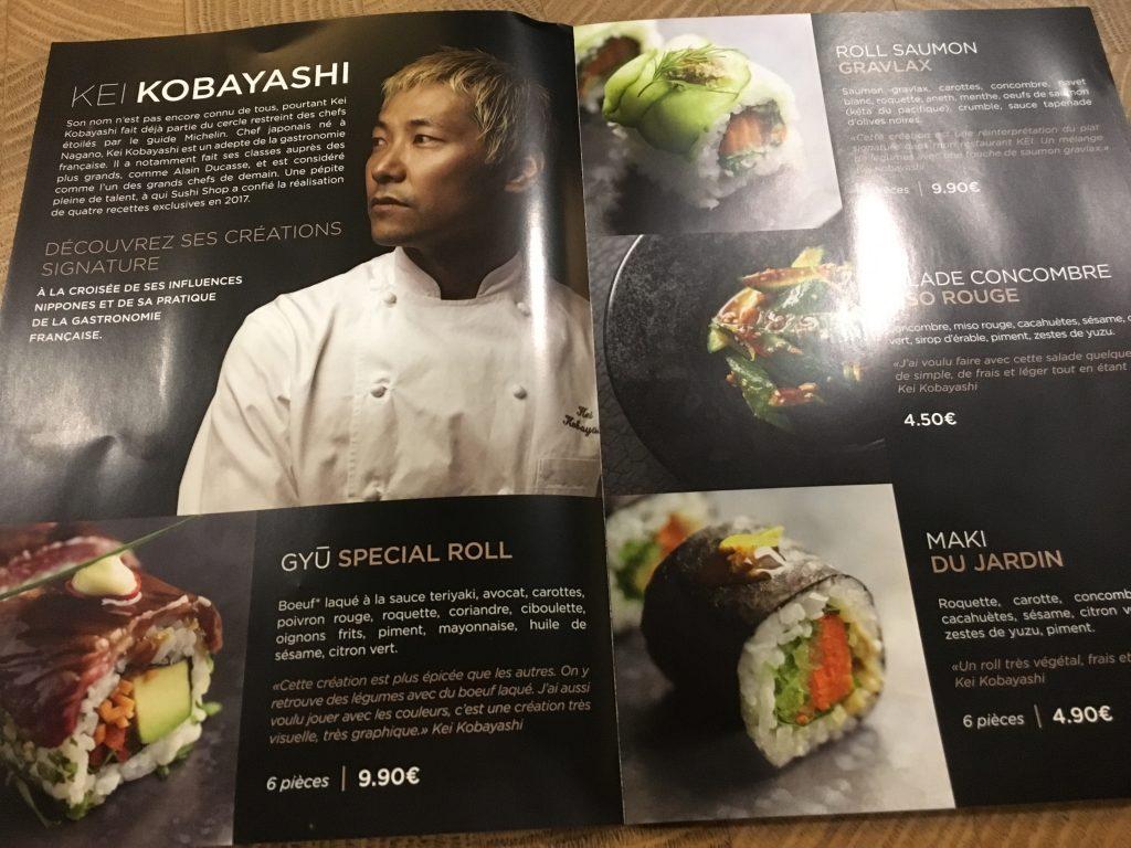 Paris 16e : Kei chez Sushi Shop