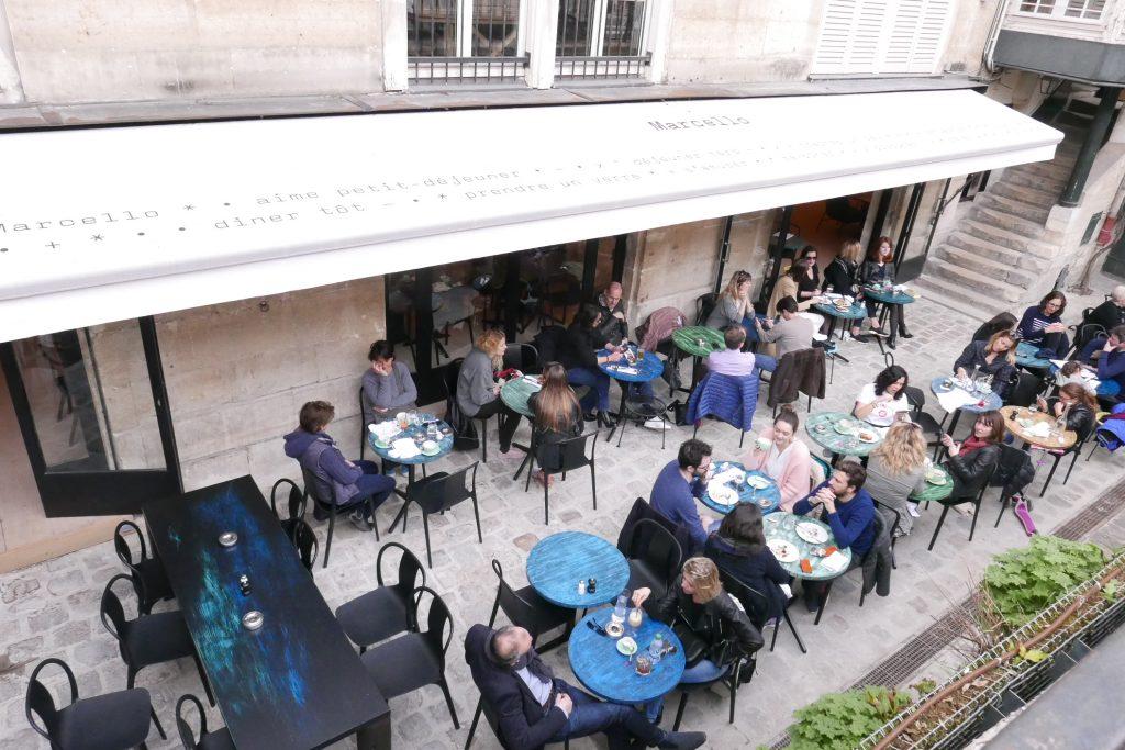Paris 6e : la petite cour selon Marcello