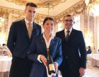 Le service avec Elina Meyer et Frédéric Rouen ©GP