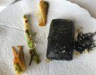 Loup de ligne rôti en croûte, algue nori et wakamé, goût d'umami ©GP