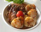Saint-jacques au jus de viande et risotto © GP