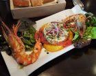 Salade de quinoa, agrumes et gambas ©AA