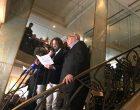 Frédéric Begbeider et Didier annonçant l'un le Renaudot, l'autre le Goncourt © GP