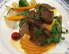 Pigeonneau au foie gras et patates douces ©GP