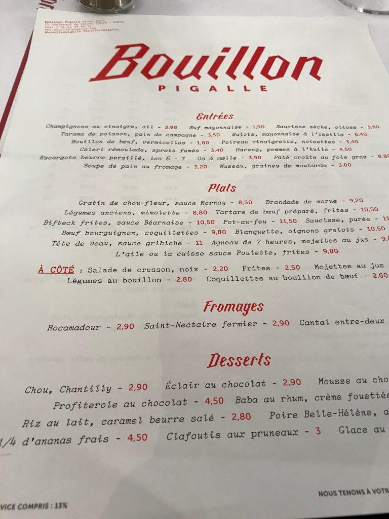 Menu Du Restaurant Les Deux Freres
