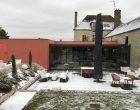 Vue de la terrasse sous la neige © GP