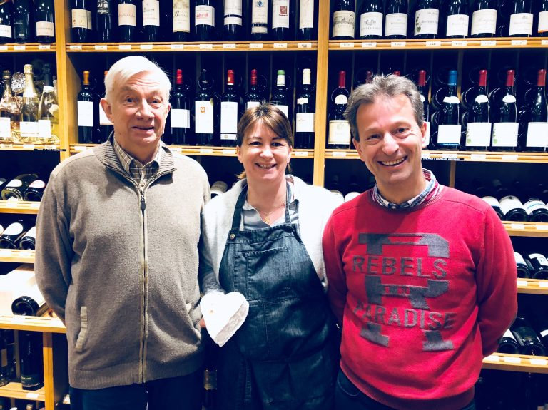 Papa Claude avec Bénédicte et Jérôme © GP