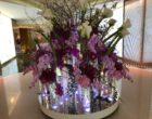 Bouquets de fleurs dans le hall © GP