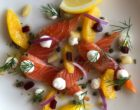 Gravlax de saumon aux agrumes et à l'aneth, crème de raifort ©GP