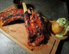 Travers de porc iberique, laqué au miel de citron © AA