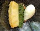 Ananas pesto pistaches et sorbet ananas estragon ©GP
