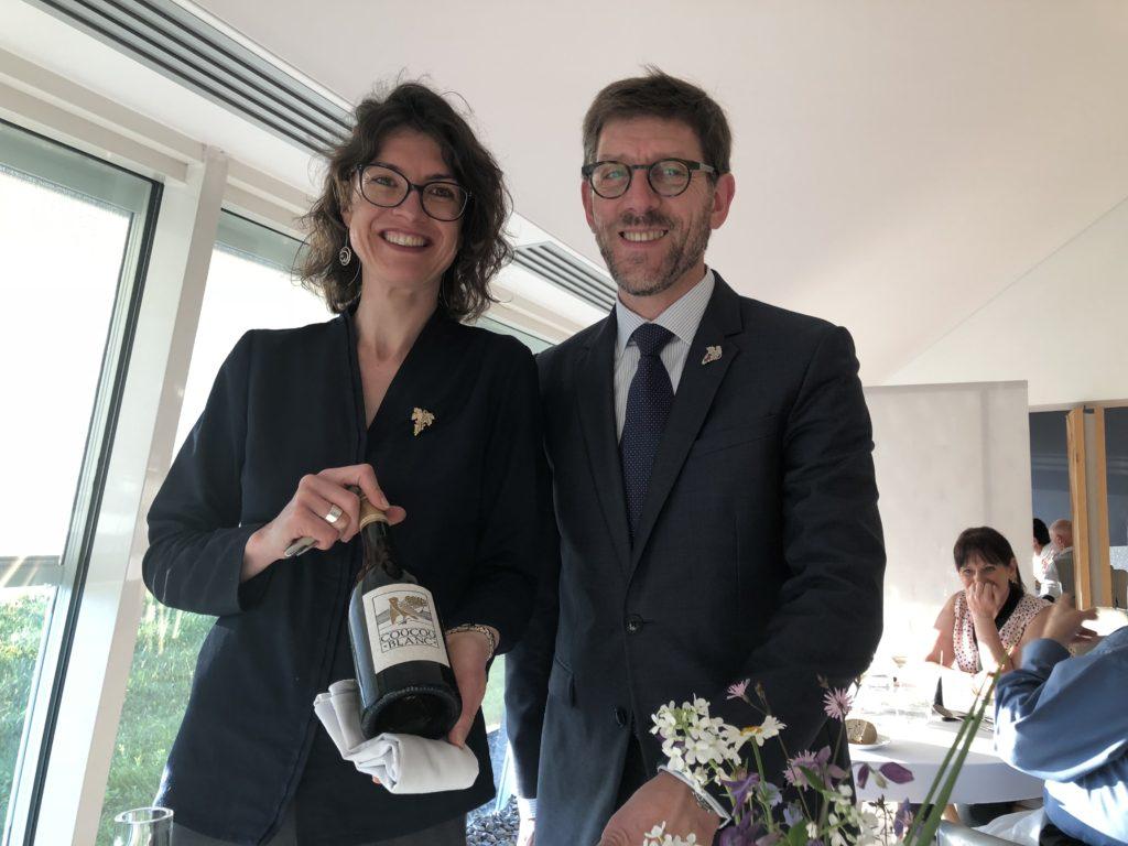 Céline Ruet, sommelière, et Sergio Calderon © GP