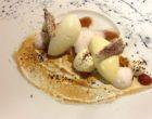 Rhubarbe en compotée, sorbet au yaourt ©GP