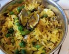 Le riz safrané en accompagnement du saumon de l'adobe © GP