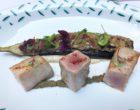 Thon germon à la plancha, aubergine et fleurs de câprier © GP