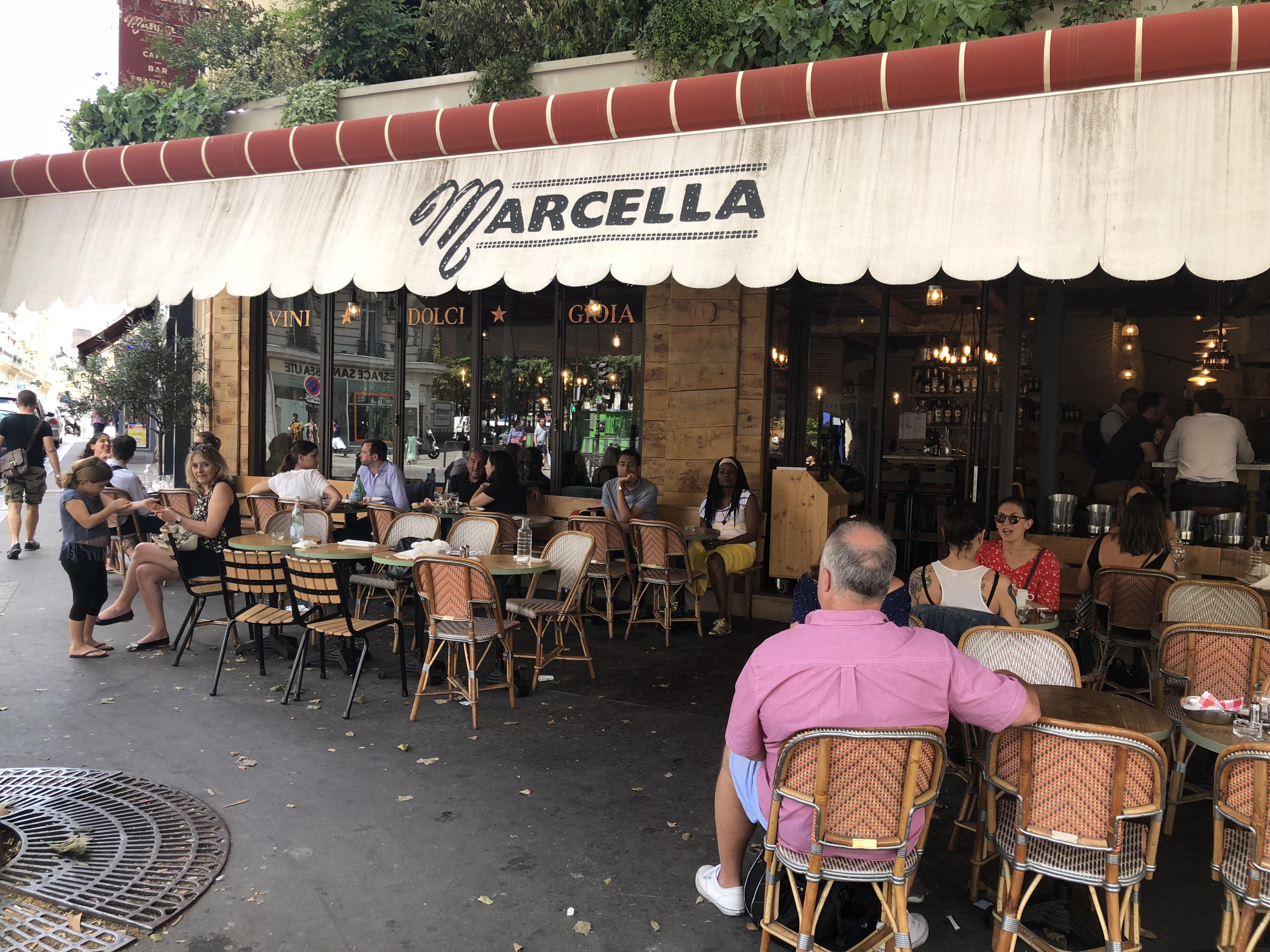 Paris 8e en terrasse chez marcella restaurants - Restaurant en terrasse paris ...