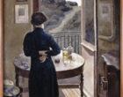 Femme debout, devant une fenêtre ©MAMCS