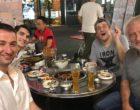 Le 5 septembre, à Séoul avec l'équipe du restaurant PG ©DR