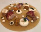 Fine gelée de tourteau, homard et oursin, crème de chou fleur ©GP