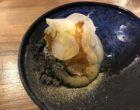 Purée de navet Yasai, sorbet yuzu, émulsion gingembre, nougatine ©GP