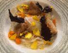 Velouté de butternut, raviole de chou et de cebettes © GP