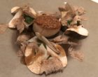 Saint Jacques, champignons rosés, tombée d'épinard, vagues de seiches et truffe blanche ©GP