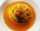 Fondant de parmesan, émulsion de tomate © GP