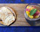 Tarte aux pommes et salade d'agrumes © GP