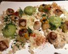 Saint Jacques et couscous de chou- fleur, poireaux confits, mousse d'aneth © GP