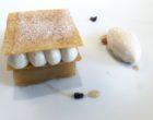 Pomme Tatin, philo caramélisée, crème légère aux épices, glace aux noix © GP