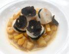 Saint jacques aux truffes, sauce Albufera, salsifis © GP