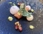 Saumon de Norvège, salsa exotique, espuma coco, tuile de tapioca soufflée au wasabi ©GP