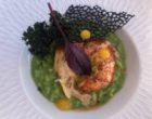 Vérifié Risotto vert au homard, fruit de la passion, chips de chou kale © GP