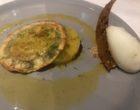 Raviole d'agrumes, tartare d'ananas, minestrone de fruits de saison, jus de passion épicé © GP