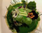 Saumon d'Ecosse du lac Duart, crabe de la mer du Nord, cresson, oseille et radis ©GP
