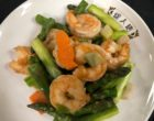 Salade de crevettes aux légumes sautés © GP