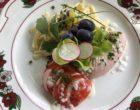 Petite salade alsacienne cervelas - gruyère © GP
