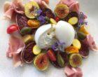 Burrata, jambon corse, tomate confite, figues © GP