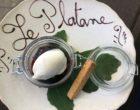 La figue pochée au parfum de sangria, glacé vanille © GP