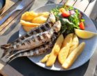 Sardines grillées, petit mesclun et panisses ©AA